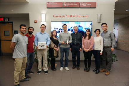 Mr. Shuo Yang of DJI visited with colleagues and students at Carnegie Mellon's Robotics Institute. (November 2017)
